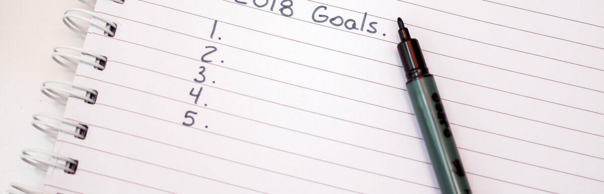 list of items titled 2018 goals