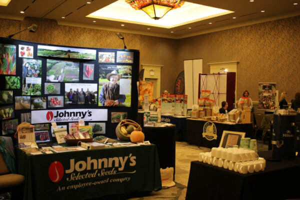 johnny's seeds booth and tilth conference trade show