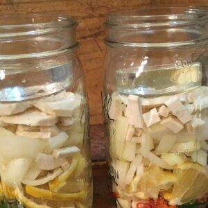 fire cider in mason jars