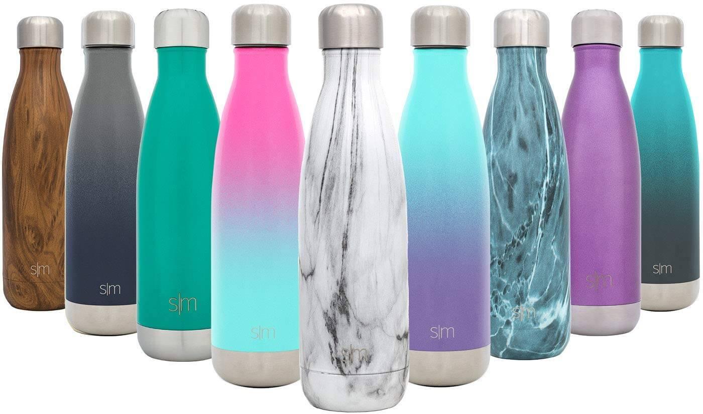 simple modern water bottle