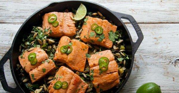 salmon skillet