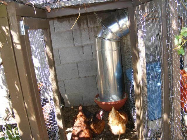 Metal Air Duct Chicken Feeder