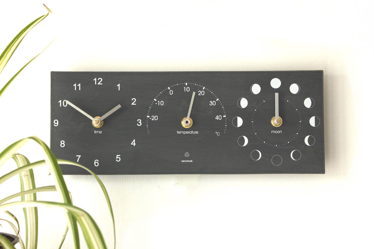 Moon Phase Outdoor Thermometer