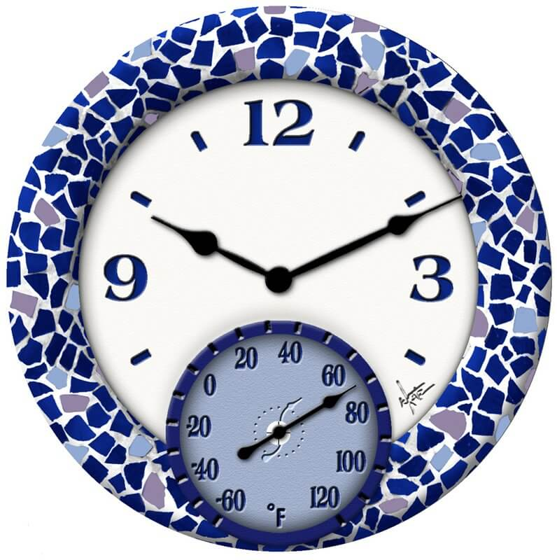 Mosaic Clock Thermometer