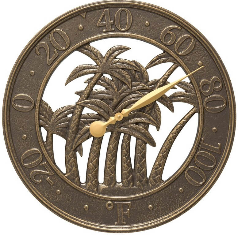 Palm Tree Outdoor Thermometer