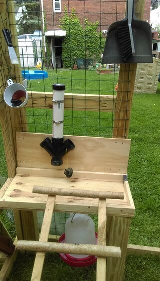 Raised Chicken Feeding Station