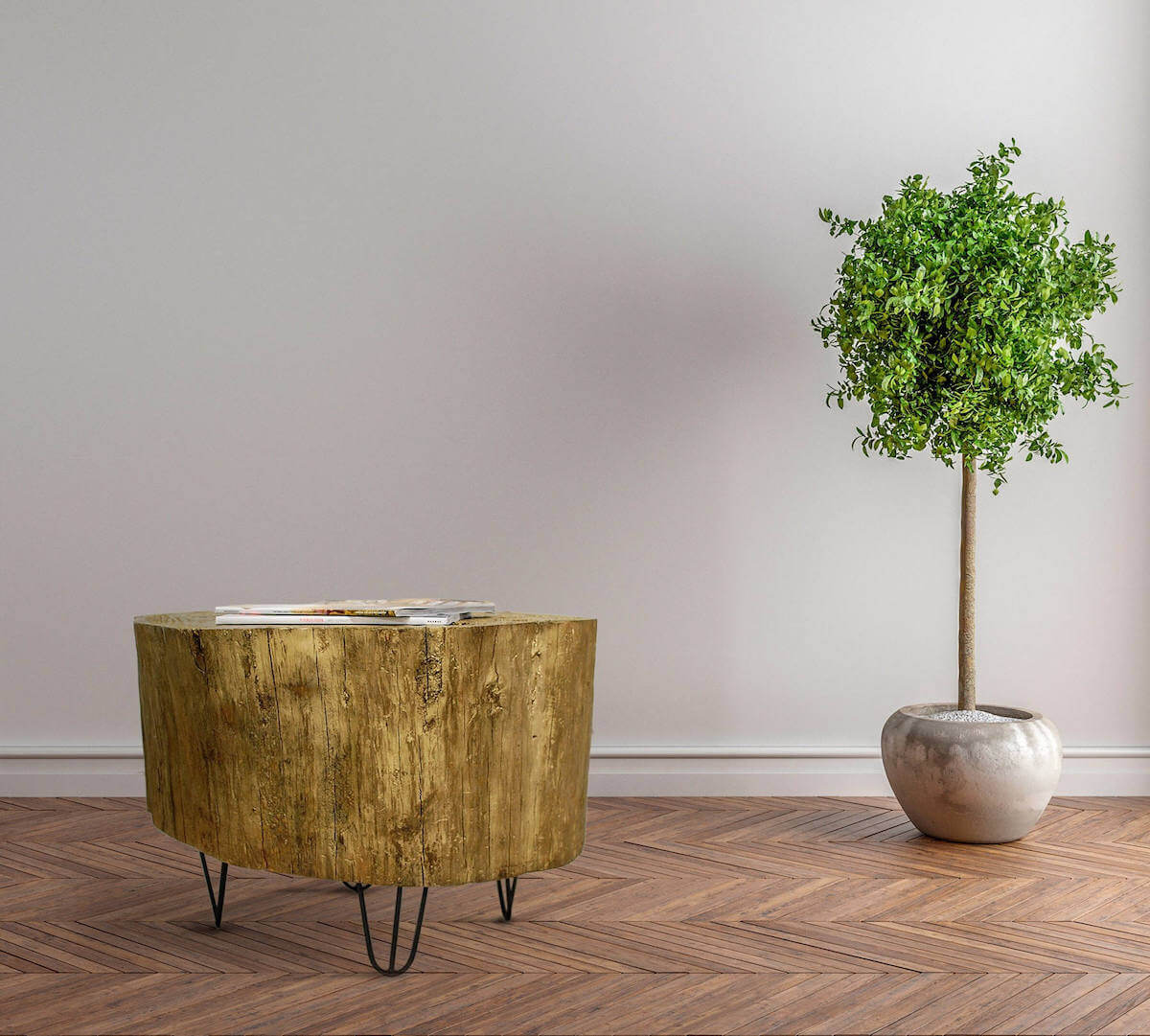 tree stump furniture. Tree Stump Table With Hairpin Legs Furniture N