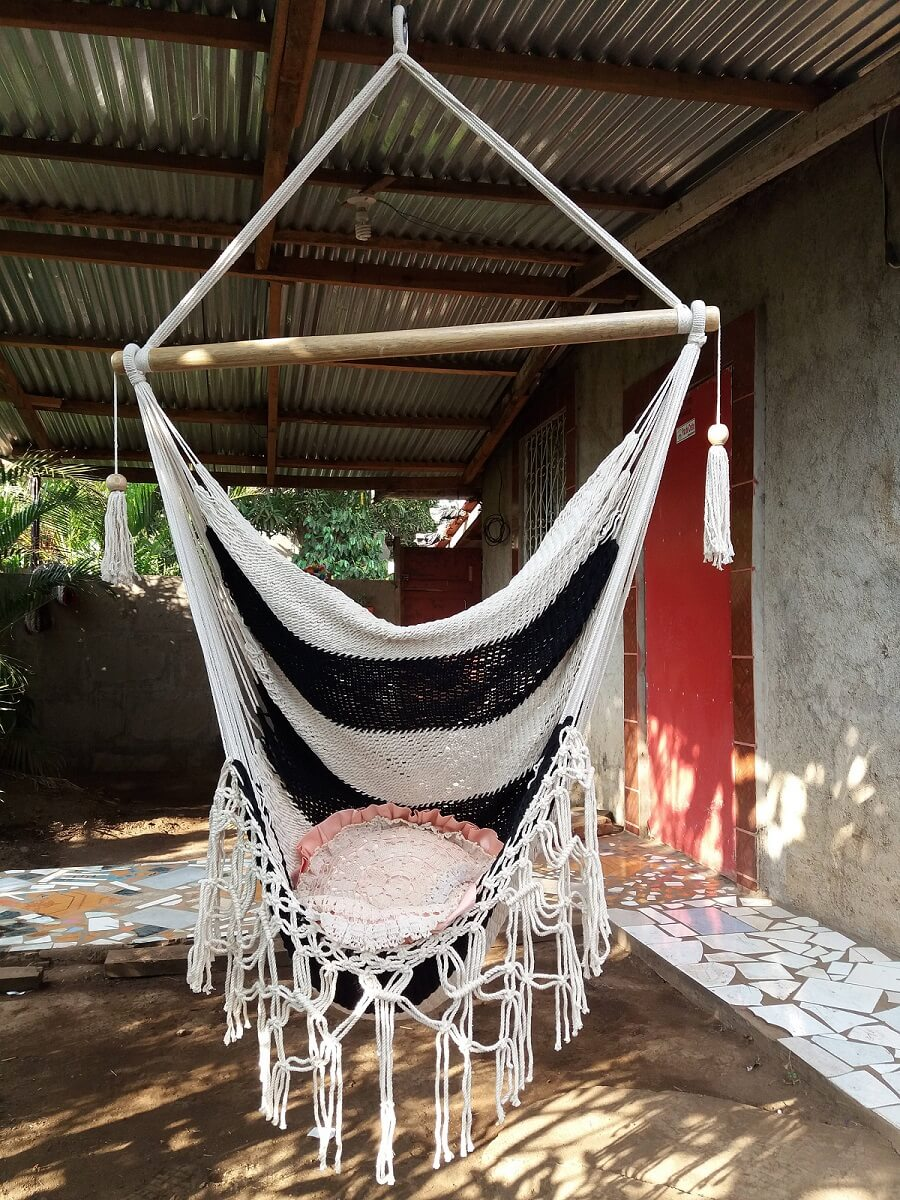 Black And White Hammock Chair
