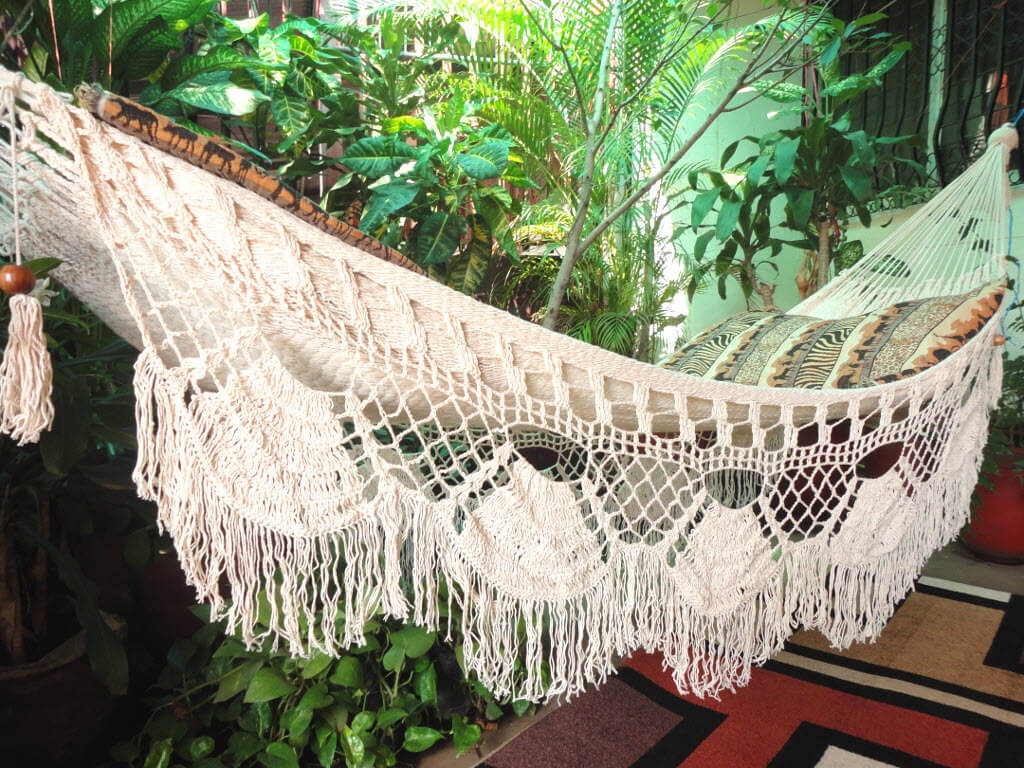 Boho Style Natural Cotton Hammock Swing