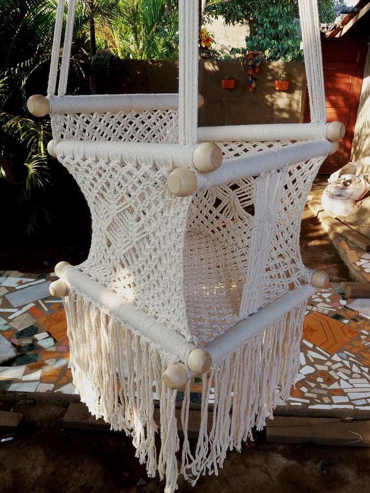 Macrame Baby Hammock Chair