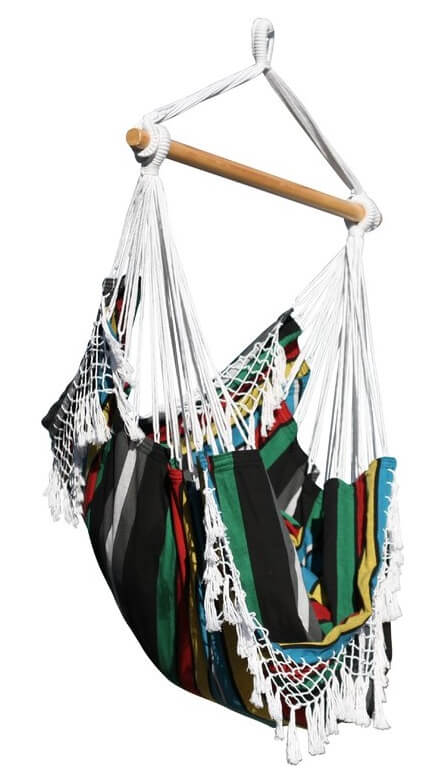 Multi Colored Cotton Hammock Chair