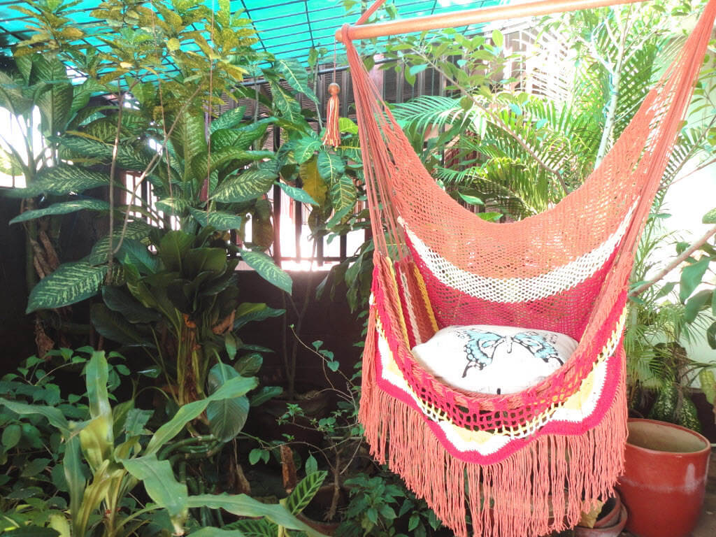 Multi Colored Terracotta Hammock Chair