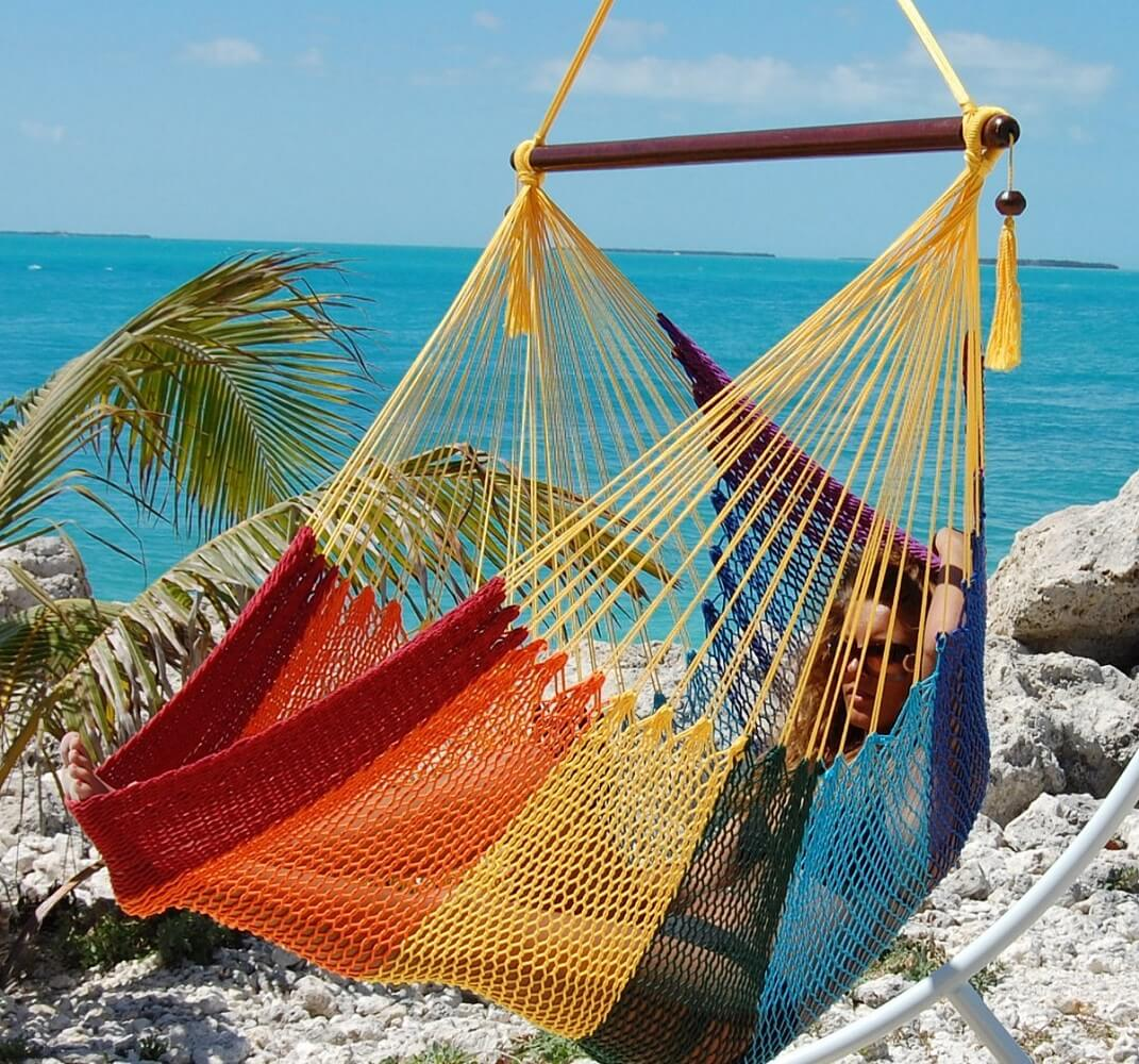 Rainbow Hammock Chair