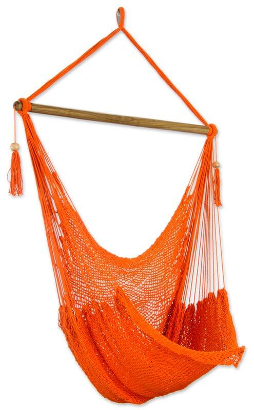 Tropical Tangerine Cotton Hammock Chair