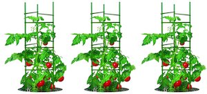 gardener's blue ribbon set of 3 tomato cages
