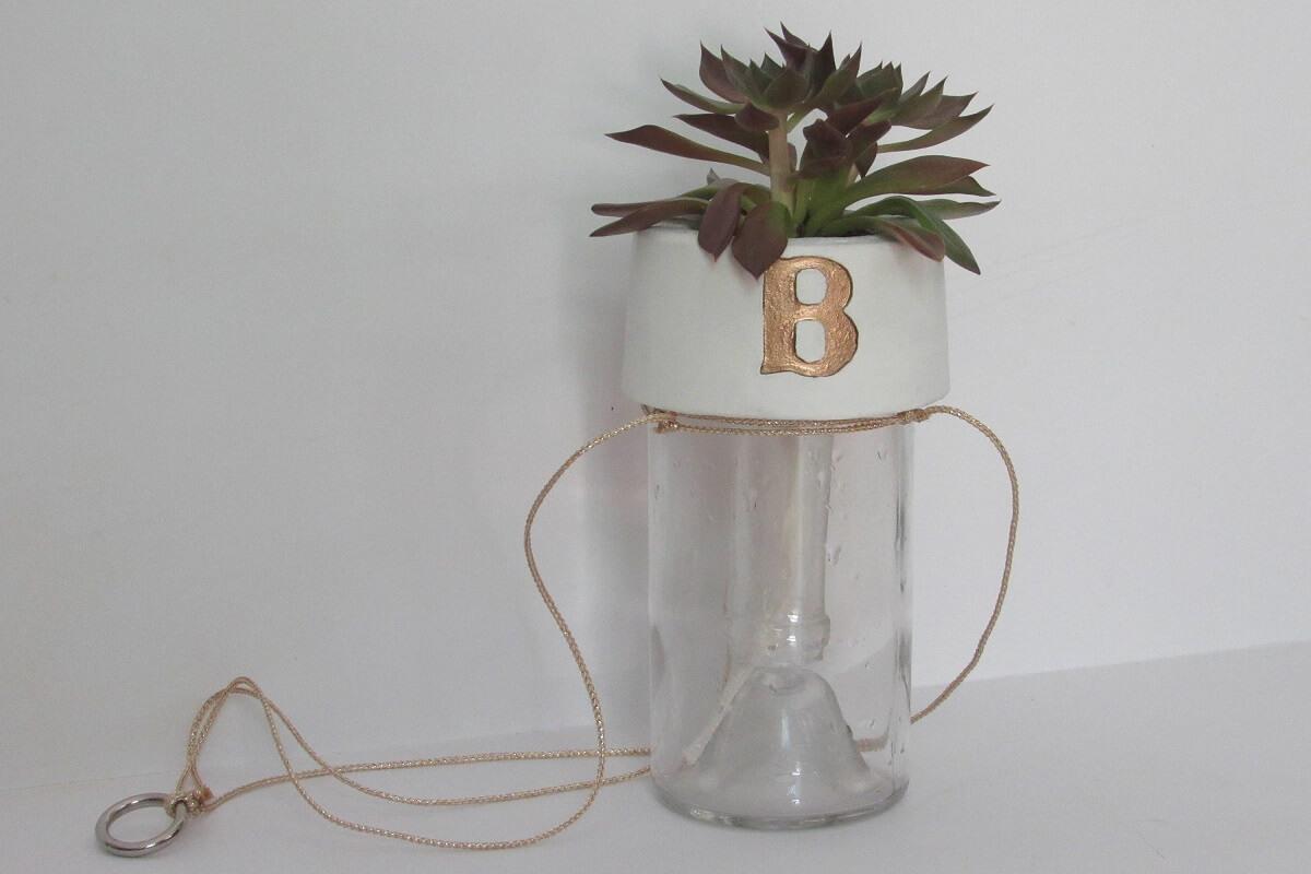 Custom Upcycled Self-Watering Planter