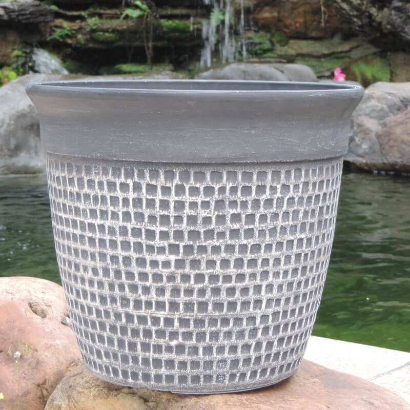 Fiber Clay Self-Watering Planter