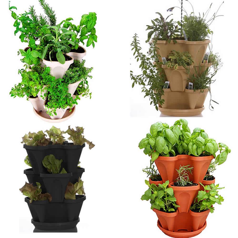 Self-Watering Stackable Planters