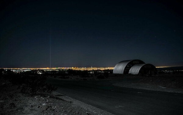 quonset home at dusk