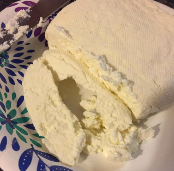 queso fresco on plate