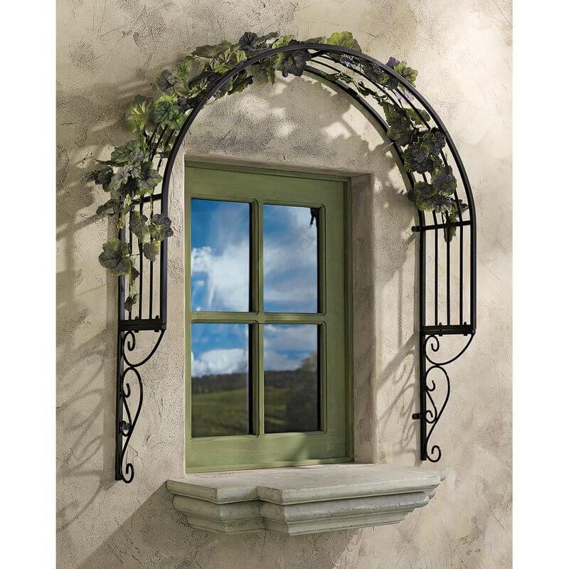 Arched Window Trellis
