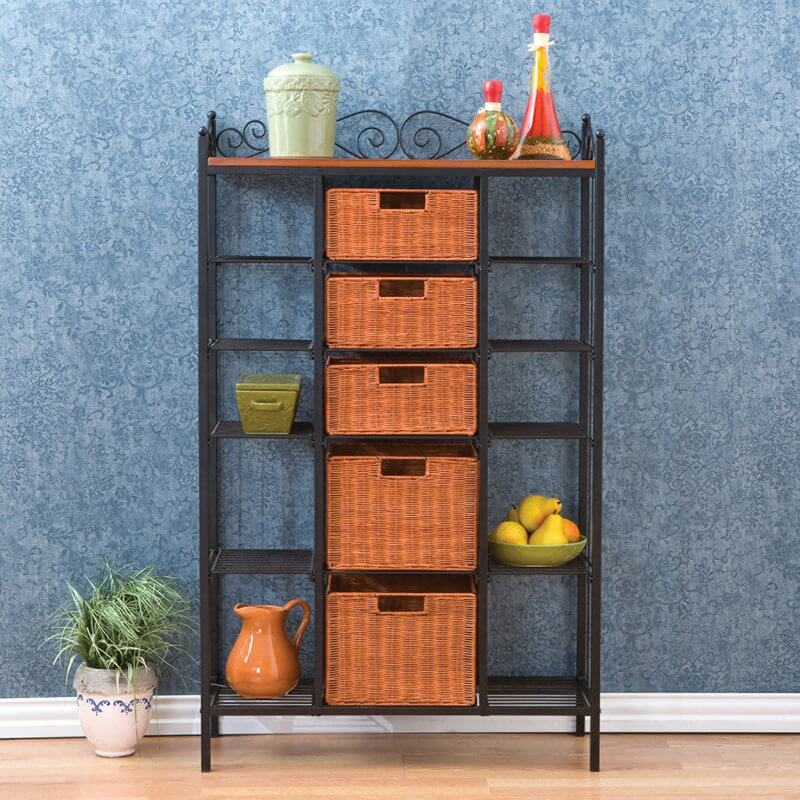 Bakers Rack With Storage