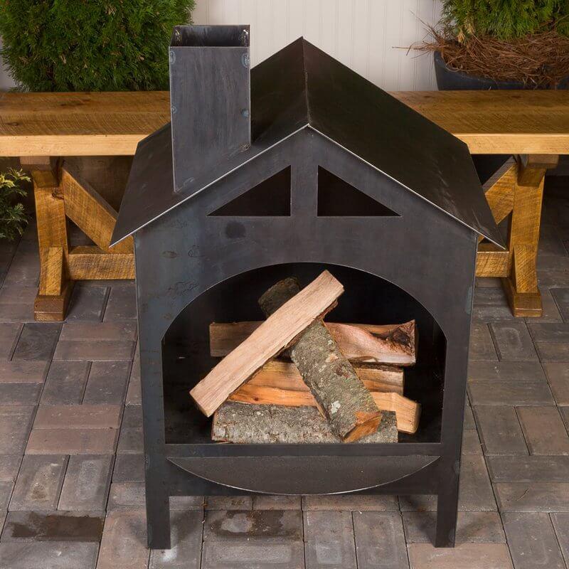 House Wood Burning Fireplace