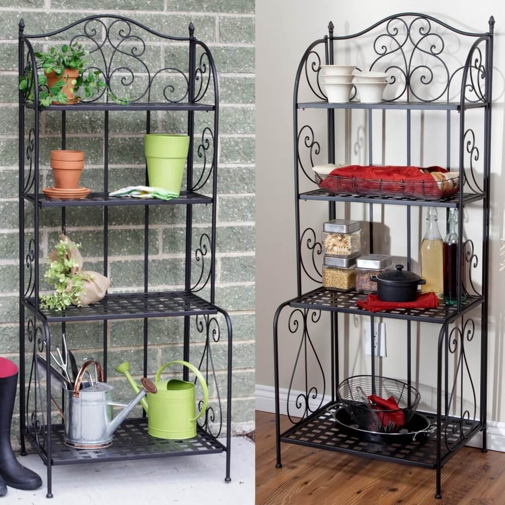 Indoor Outdoor Folding Bakers Rack
