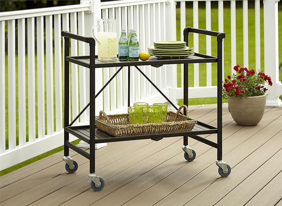 Metal Cart Potting Bench With Wheels