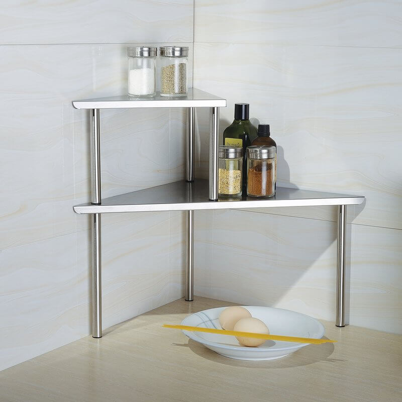 Modern Stainless Steel Countertop Bakers Rack