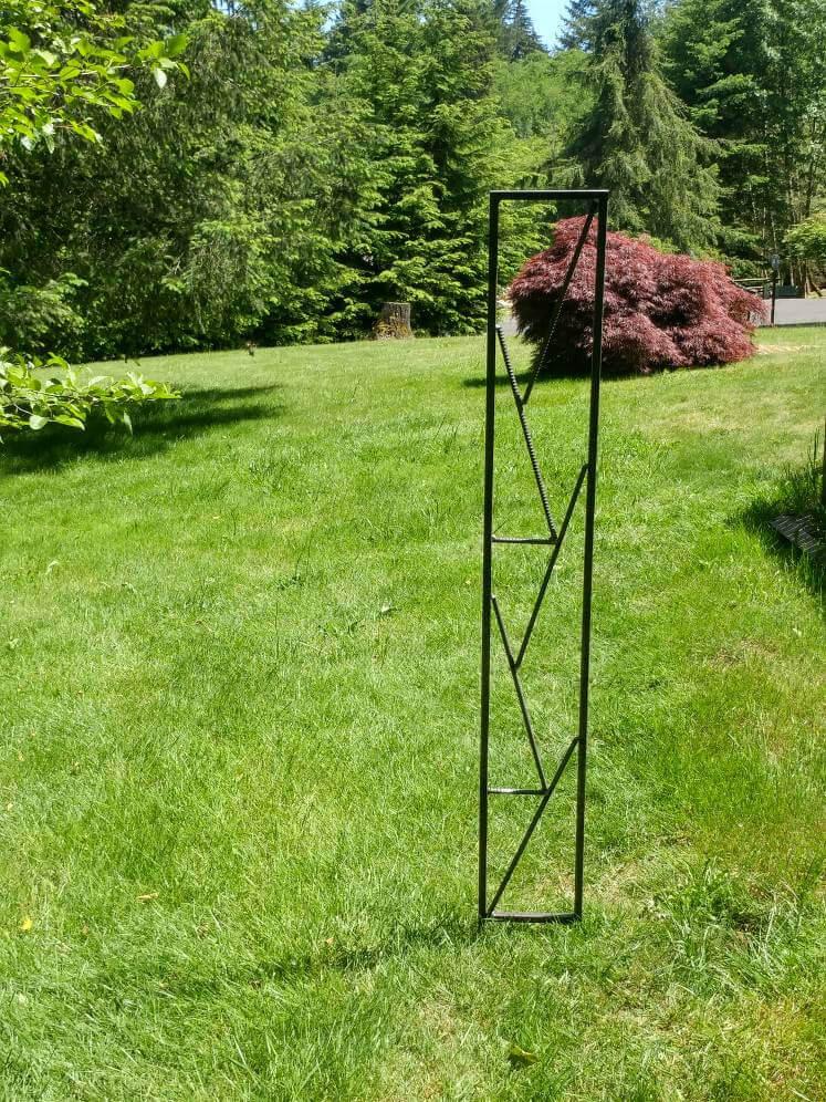 Narrow Steel Garden Trellis