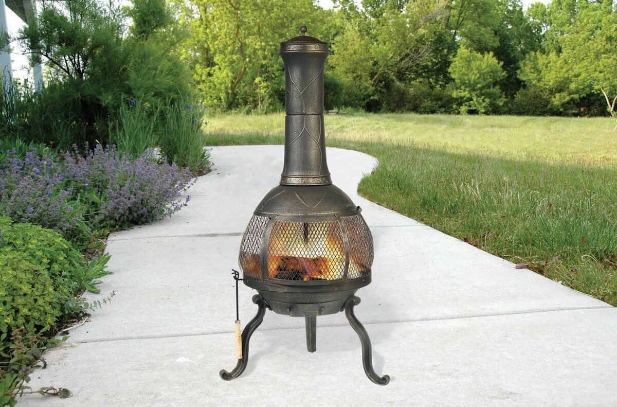 Outdoor Chimenea Fireplace