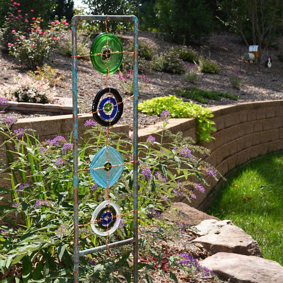 Recycled Glass Garden Trellis