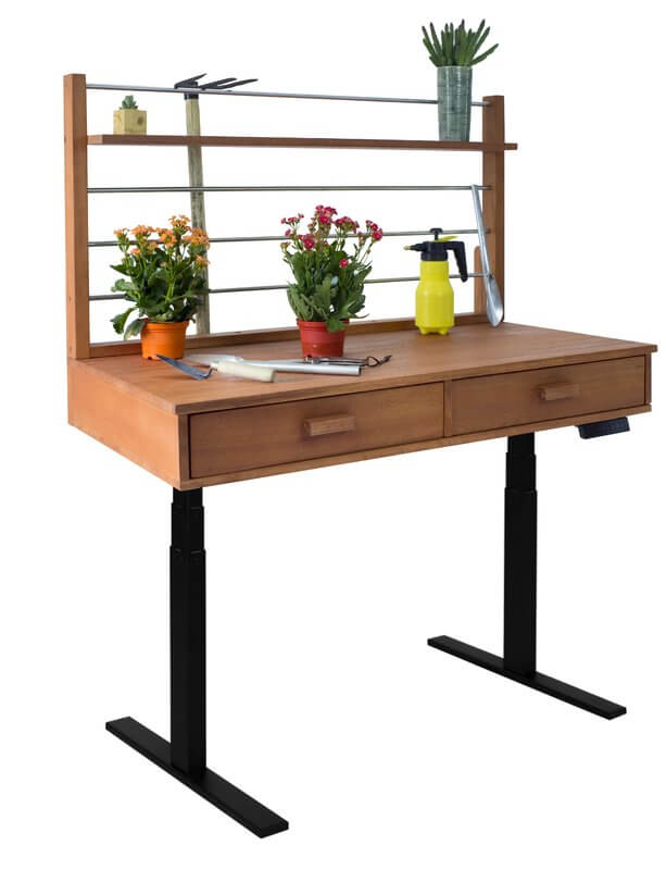 Sit To Stand Adjustable Height Potting Bench