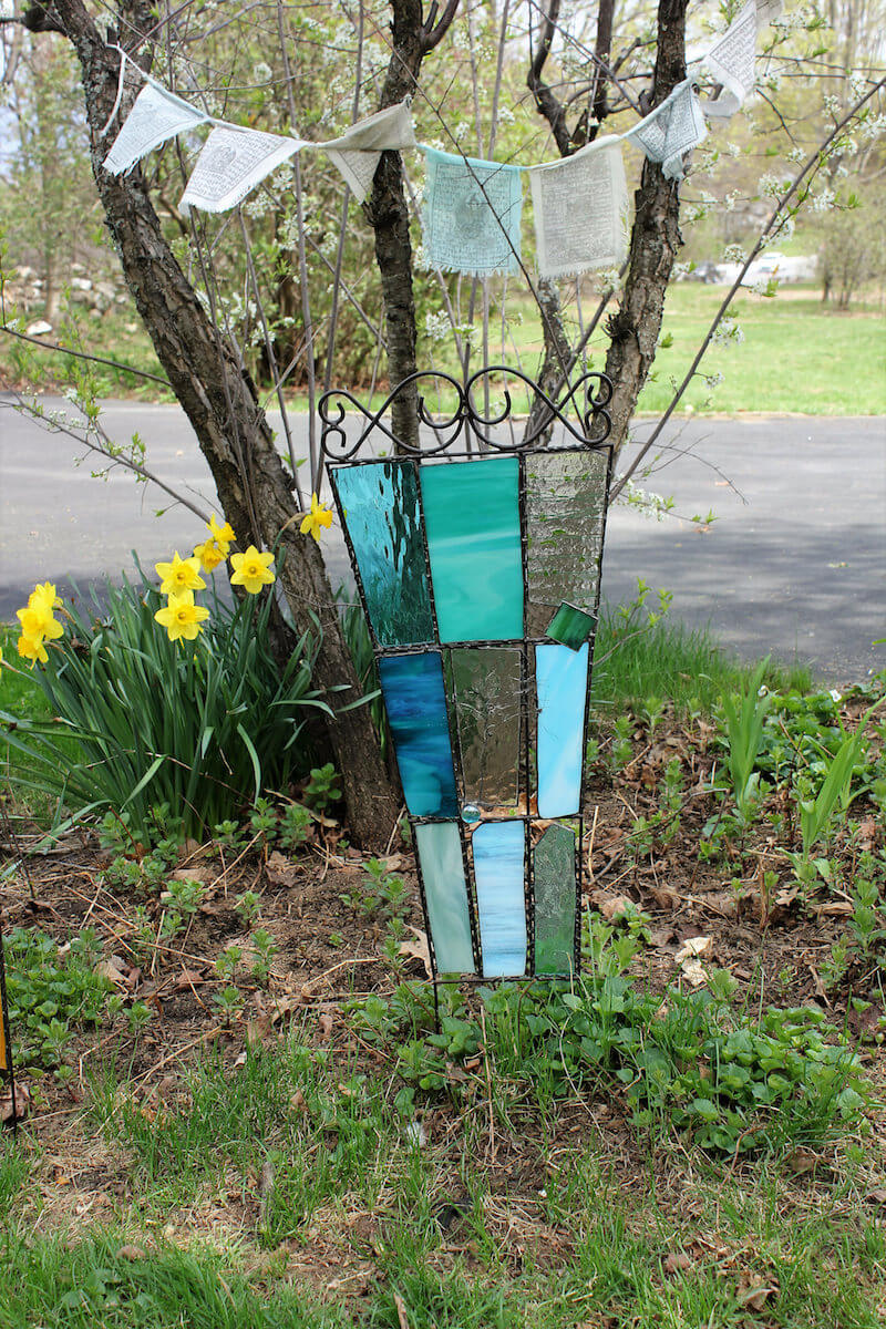 Stained Glass Garden Trellis