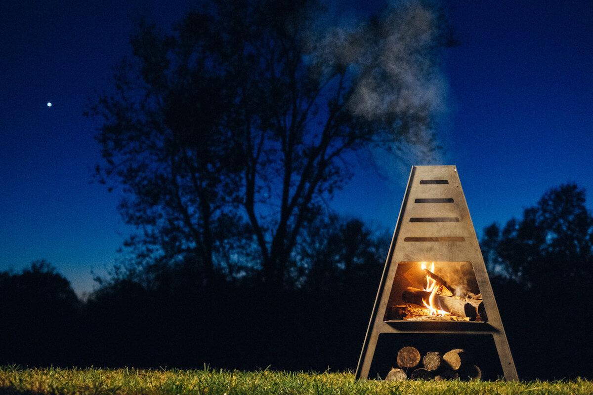 Tower Style Chimenea Fireplace