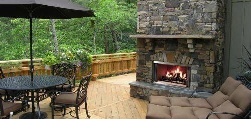 Traditional Wood Burning Fireplace