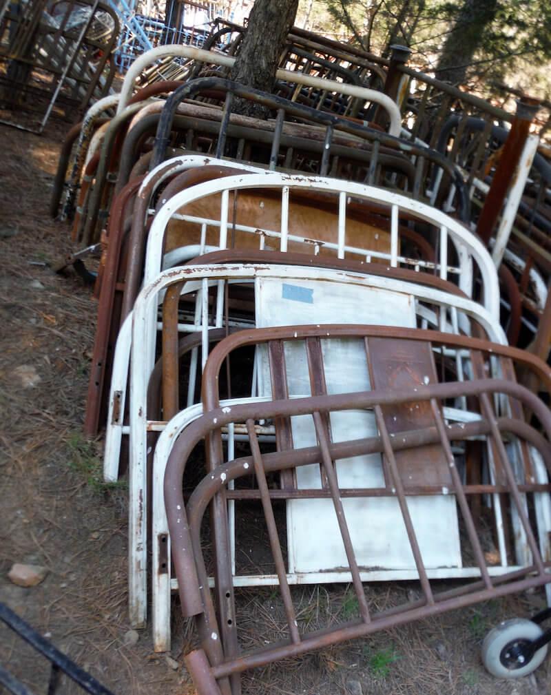 Vintage Full Sized Bed Frames Upcycled Trellis