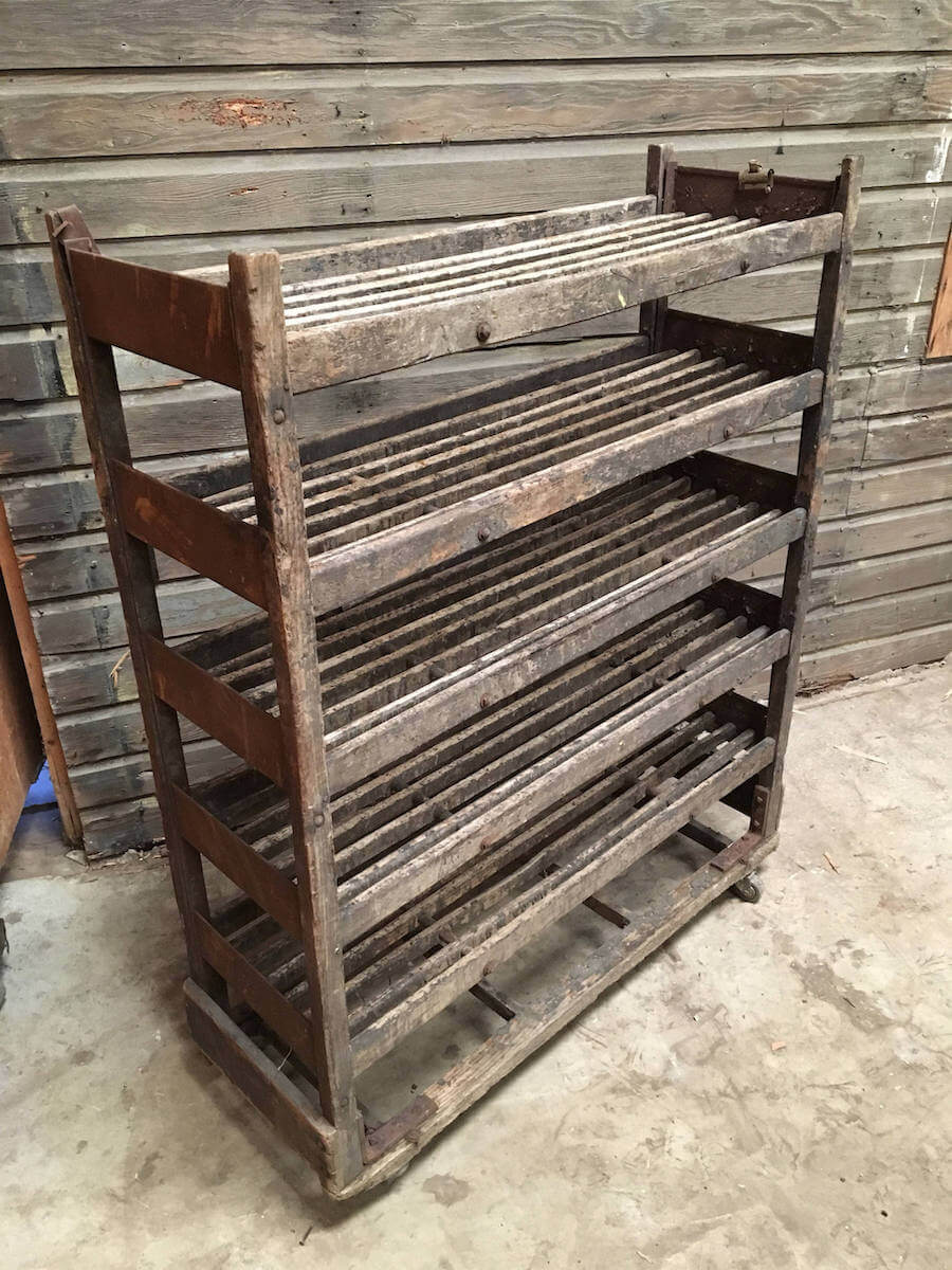 Vintage Rustic Bakers Rack