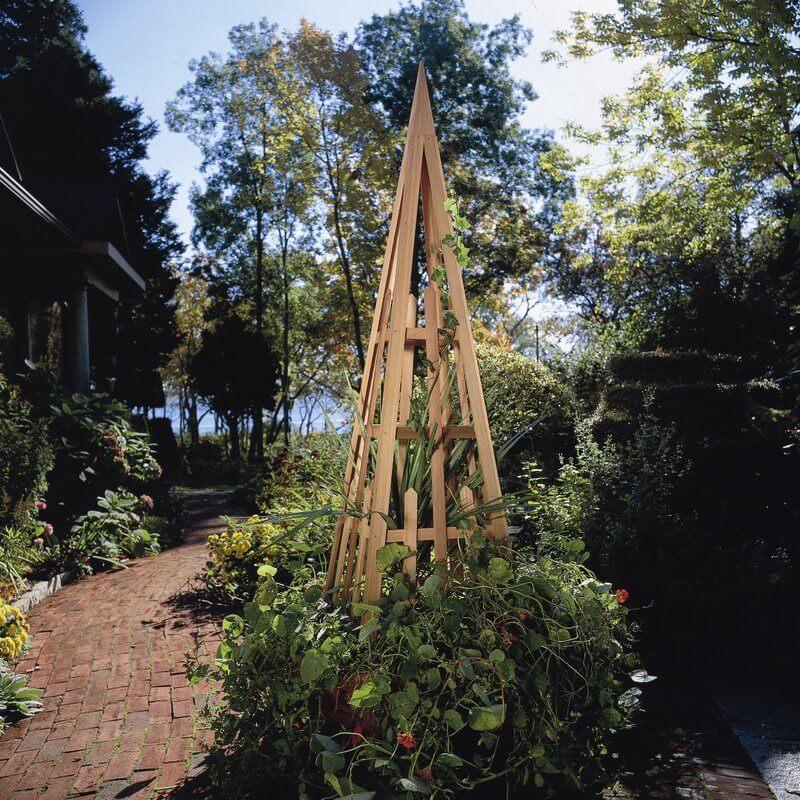 Wood Pyramid Trellis