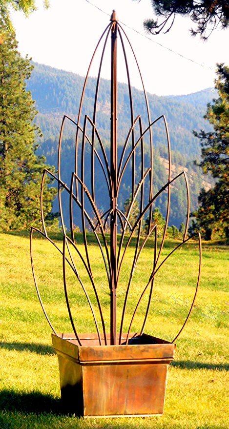 Wrough Iron Lotus Trellis