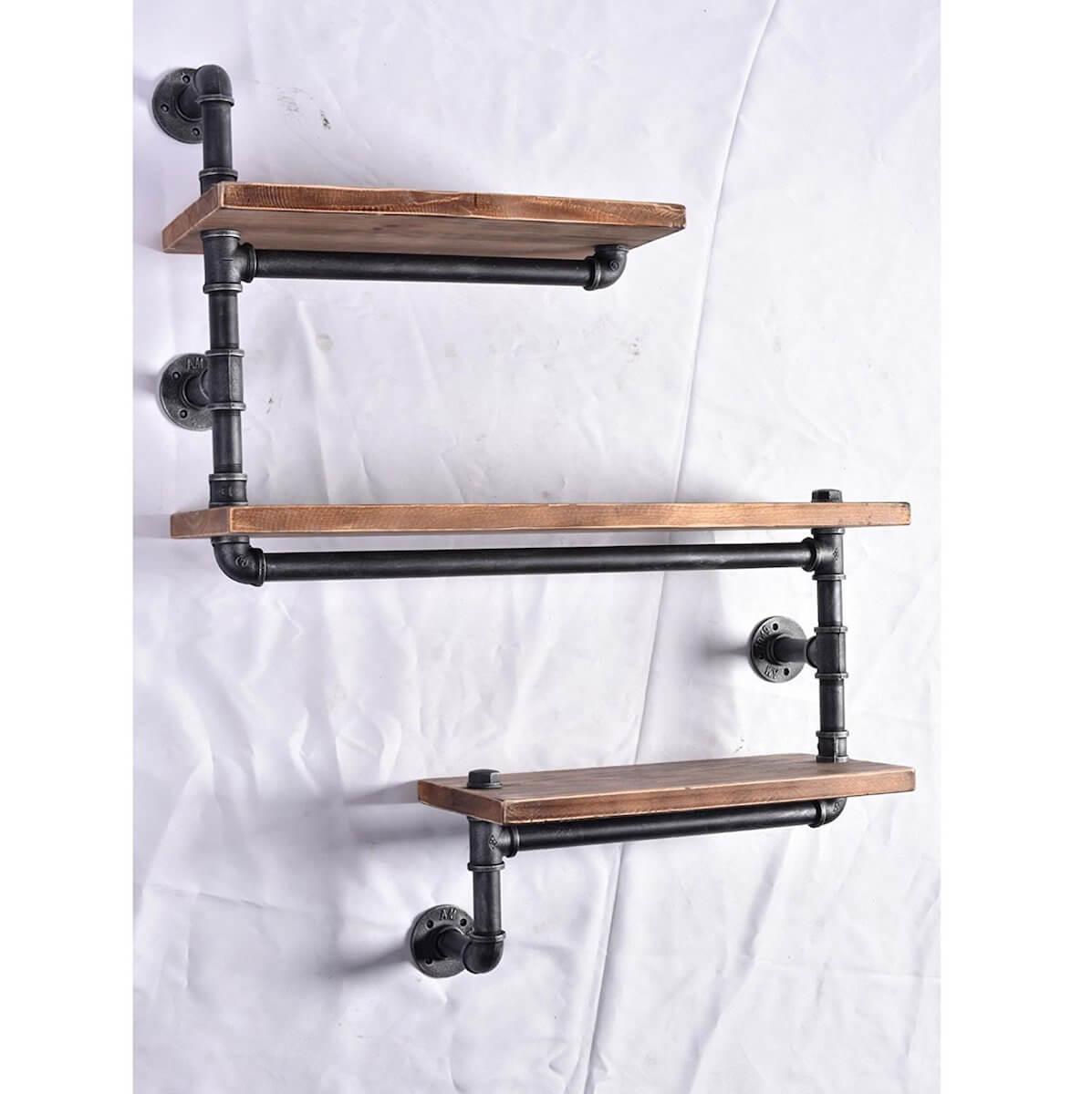3 Tier Pipe Shelves