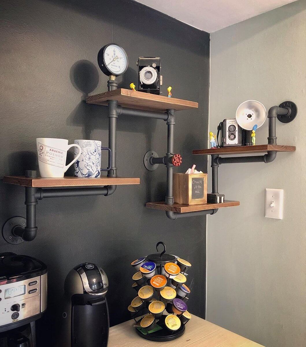 4 Layer Large Pipe Shelving Unit