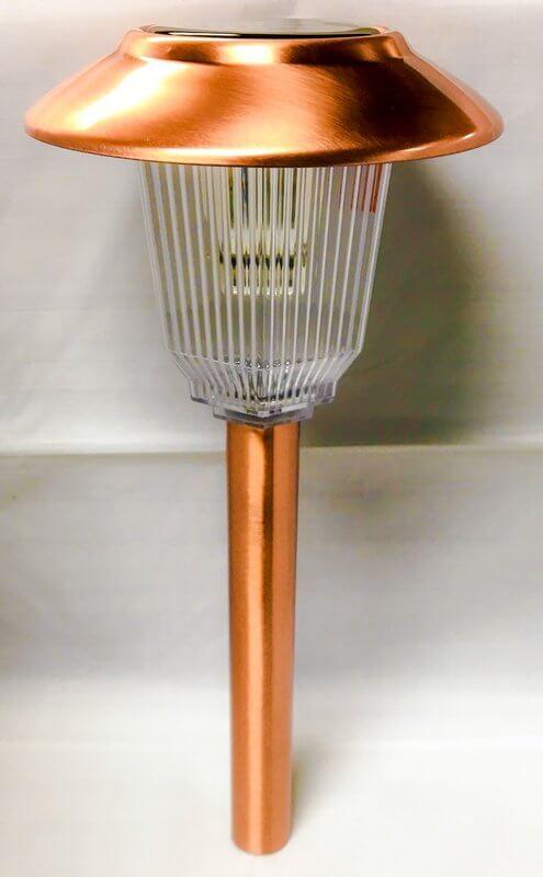 Brushed Copper Solar Path Lights