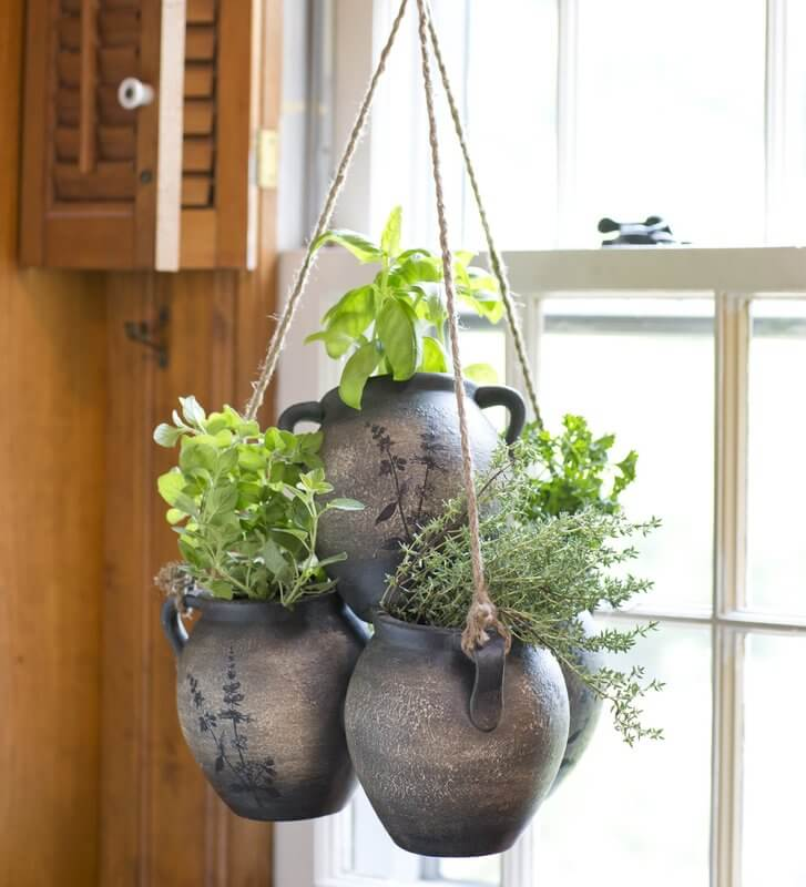 Clay Hanging Herb Planter