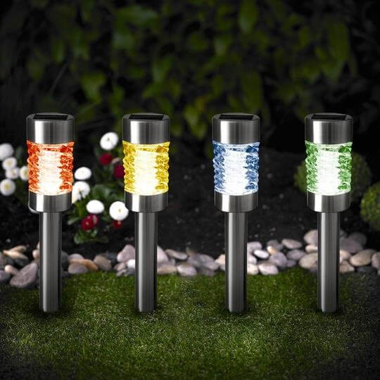 Color Changing Solar Path Lights