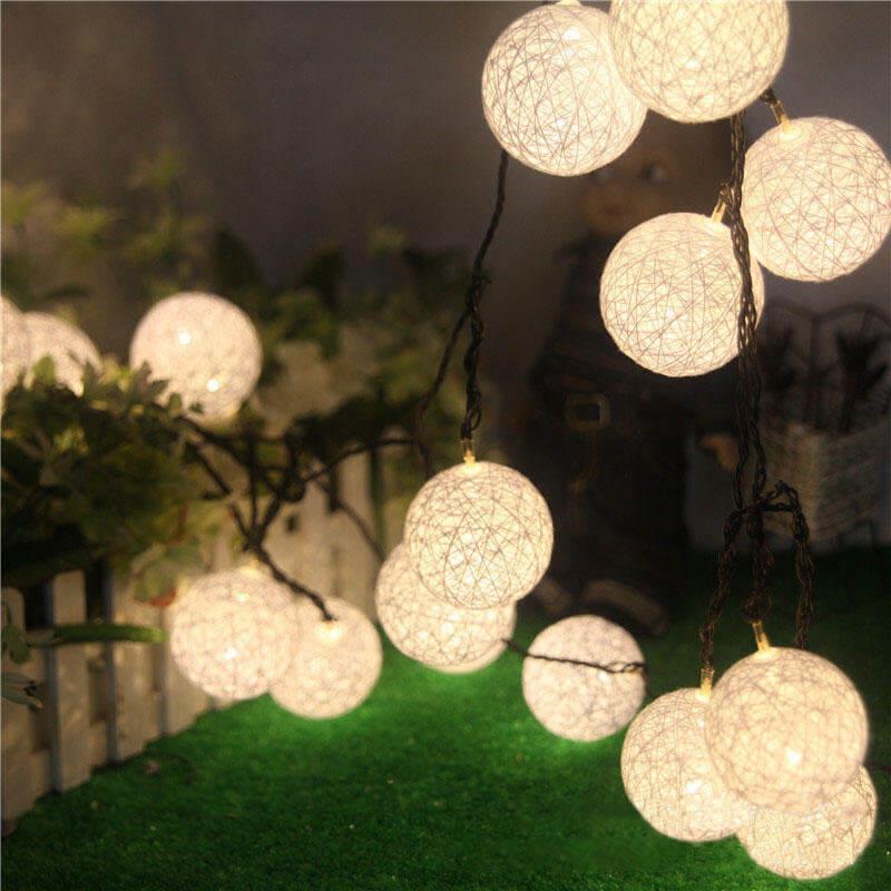 Cotton Solar String Lights