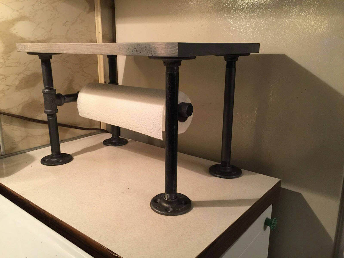 Countertop Pipe Shelf