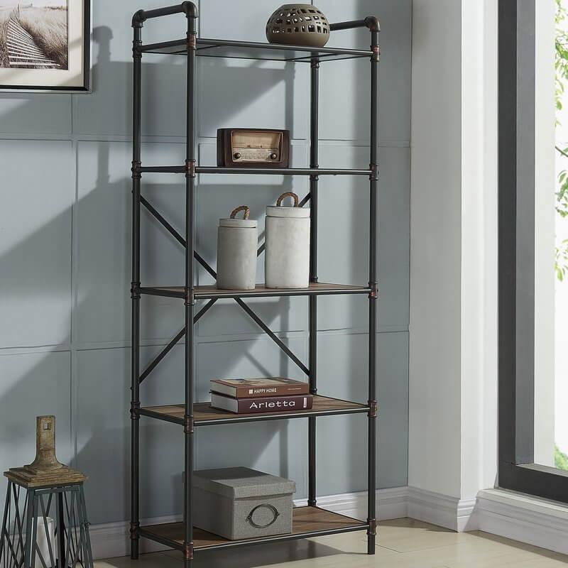 Four Tier Pipe Bookshelf