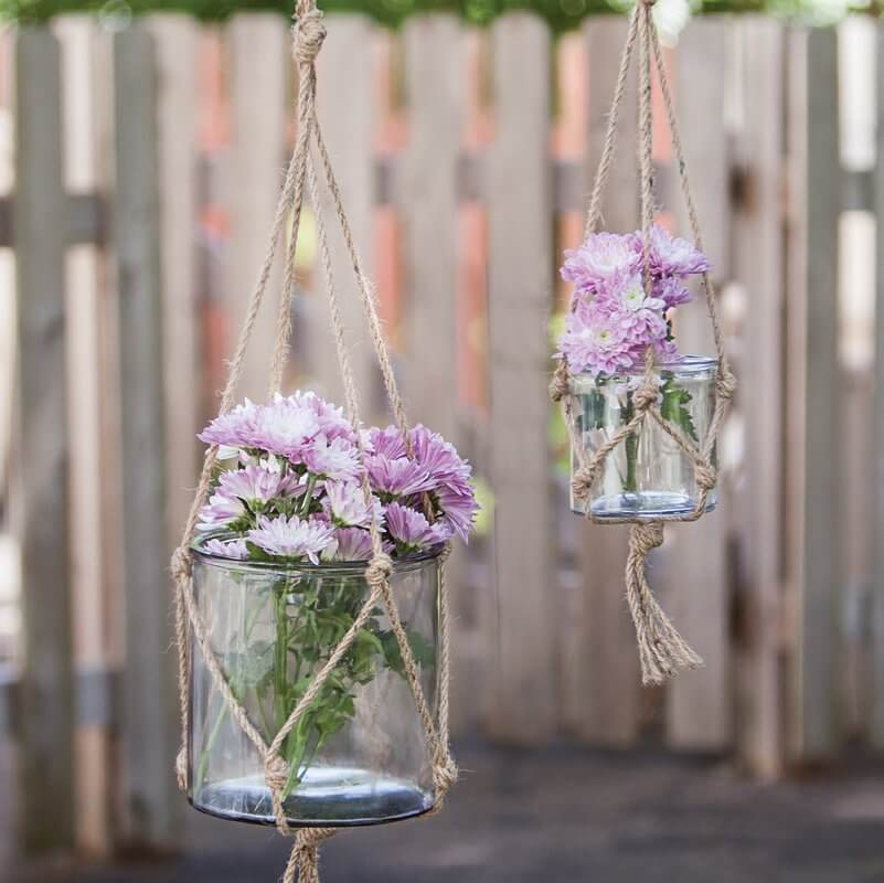 Glass Hanging Planter